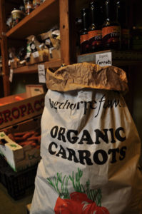 Bag of organic carrots